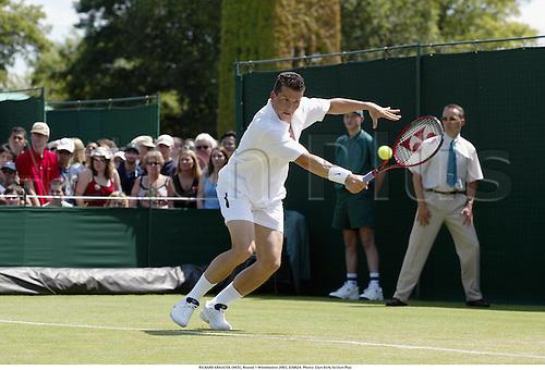 RICHARD KRAJICEK (NED), Round 1 Wimbledon 2002, 020624. Photo: Glyn Kirk/Action Plus...tennis.the championships.man