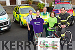 Cathie Murphy, Deirdre Quinn, Edel Hobbert, Gearoid Constable Ambulance and John O'Donnell Fire Service launch the Kerry Emergency Services Charity Cycle in aid of Alzheimer's Society (Kerry Branch) and South West Counselling Service  on Saturday 13th June 2015 from 10 Am Tralee Town Park At The Left Side Of Ash Hall