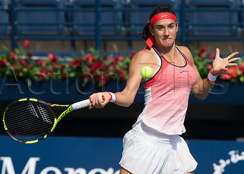 18.02.2016. Dubai, United Arab Emirates.  Caroline Garcia (FRA)  during his win against Andrea Petkovic (GER) at the Dubai Tennis Championships 2016 WTA
