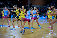 Action from the ANZ Premiership netball match between the Central Pulse and Southern Steel at Te Rauparaha Arena in Wellington, New Zealand on Wednesday, 30 May 2018. Photo: Dave Lintott / lintottphoto.co.nz