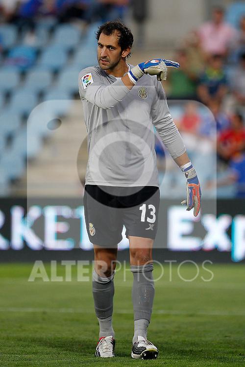 Villareal's Diego Lopez during La Liga match.October 15,2011. (ALTERPHOTOS/Acero)