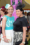 Pictured enjoying the summer fayre on the Ross Hotel / Lane Bar Champagne &amp; Cocktail Marquee at Killarney Races ladies Day on Thursday were from left, Elaine Coffey, Killanrey and Eilis Cronin, Killarney.<br /> Picture by Don MacMonagle<br /> <br /> <br /> PR Photo from Ross Hotel