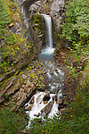 Cristine Falls as seen along the Paradise Road, Mt. Rainier National Forest