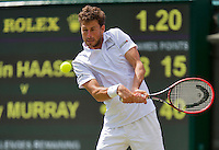 England, London, Juli 02, 2015, Tennis, Wimbledon, Robin Haase (NED)  his match against Murray (GBR)<br /> Photo: Tennisimages/Henk Koster