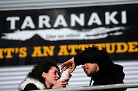 Fans eat chips before the Rugby Championship match between the NZ All Blacks and Argentina Pumas at Yarrow Stadium in New Plymouth, New Zealand on Saturday, 9 September 2017. Photo: Dave Lintott / lintottphoto.co.nz