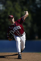 Josh Muecke of the Loyola Marymount Lions pitches during a game at Page Stadium on March 19, 2003 in Los Angeles, California. (Larry Goren/Four Seam Images)