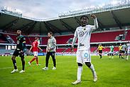 KALMAR, SWEDEN - JULY 01: Jordan Attah Kadiri of Ostersunds FK reacts during the Allsvenskan match between Kalmar FF and Ostersunds FK at Guldfageln Arena on July 1, 2020 in Kalmar, Sweden. (Photo by David Lidström Hultén/LPNA)