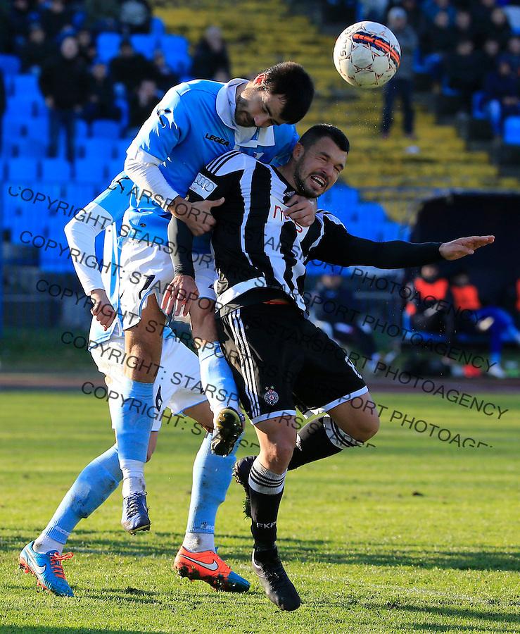 Fudbal Jelen Super League season 2015-2016<br /> Spartak v Partizan<br /> Valeri Bozhinov (Bojinov) (R) and Goran Antonic<br /> Subotica, 29.11.2015.<br /> foto: Srdjan Stevanovic/Starsportphoto&copy;