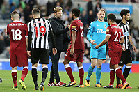 Liverpool manager Jurgen Klopp looks dejected as he congratulates the players at the final whistle<br /> <br /> Photographer Rich Linley/CameraSport<br /> <br /> The Premier League -  Newcastle United v Liverpool - Sunday 1st October 2017 - St James' Park - Newcastle<br /> <br /> World Copyright &copy; 2017 CameraSport. All rights reserved. 43 Linden Ave. Countesthorpe. Leicester. England. LE8 5PG - Tel: +44 (0) 116 277 4147 - admin@camerasport.com - www.camerasport.com