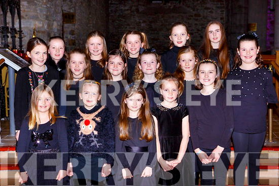 Singers from the Cathedral Choir at the Joy to the World-A Christmas Reflection concert in St Marys Cathedral on Friday night front row l-r: Kate Fleming, Elizabeth Fabion, Aoife O'Callaghan, Reailtin O'Donoghue, Orianne McGillicuddy. Middle row: Faye O'Carroll, Lily Courtney, Emily O'Shea, Micella Mulry, Eva Spellman, Casey Mulry. Back row: Muireann O'Donoghue, Grace O'Meara, Ruby Courtney, Patricia Dundon and Alicia Lee