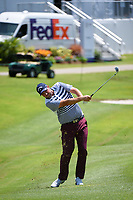 Marc Leishman (AUS) hits his approach shot on 18 during round 1 of the WGC FedEx St. Jude Invitational, TPC Southwind, Memphis, Tennessee, USA. 7/25/2019.<br /> Picture Ken Murray / Golffile.ie<br /> <br /> All photo usage must carry mandatory copyright credit (© Golffile | Ken Murray)