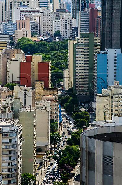 Vista  da  centro da cidade, a partir do Edifício Itália, São Paulo - SP, 01/2014.