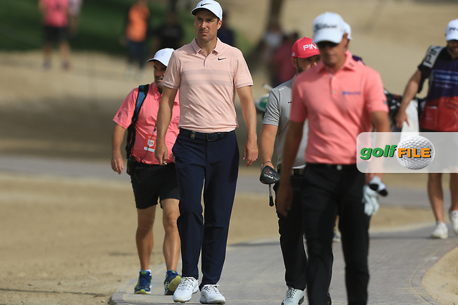 Ross Fisher (ENG) walking down the 8th during Round 2 of the Omega Dubai Desert Classic, Emirates Golf Club, Dubai,  United Arab Emirates. 25/01/2019<br /> Picture: Golffile | Thos Caffrey<br /> <br /> <br /> All photo usage must carry mandatory copyright credit (&copy; Golffile | Thos Caffrey)