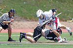 Torrance, CA 05/11/13 - Phil Thompson (Harvard Westlake #35) and Ryan Harnisch (St Margarets #32) in action during the Harvard Westlake vs St Margarets 2013 Los Angeles / Orange County Championship game.  St Margaret defeated Harvard Westlake 15-8.