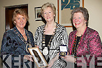 PRESENTATION: The Deputy Mayor of Tralee Mairead Fernane who presented special gifts to two presidents of the ICA at a civic reception in the Town hall, Princess street, on Friday evening l-r: Ann Maria Dennison (National President ICA from Abbeyfeale), Deputy  Mayor of Tralee  Mairead Fernane and Jo Ann Lenehan (president of the Kerry branch of the ICA).................................. ....