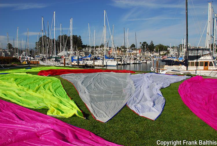 Drying sails in Santa Cruz