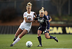 03 December 2010: Notre Dame's Kecia Morway (16) and Ohio State's Paige Maxwell (10). The Notre Dame Fighting Irish defeated the Ohio State University Buckeyes 1-0 at WakeMed Stadium in Cary, North Carolina in an NCAA Women's College Cup semifinal game.