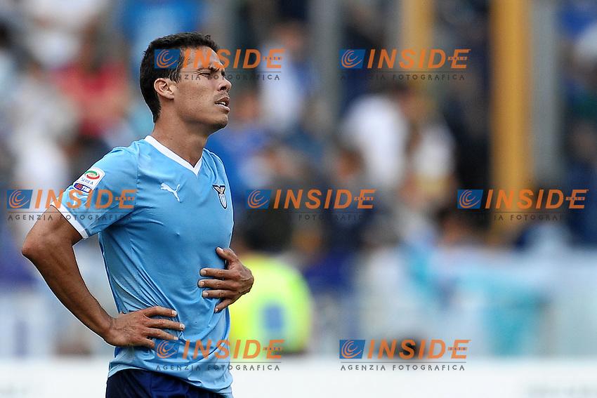 """Delusione HERNANES Lazio.Roma 25/9/2011 Stadio """"Olimpico"""".Football Calcio Serie A 2011/2012.Lazio Vs Palermo.Foto Insidefoto Andrea Staccioli"""