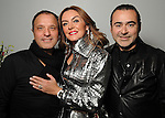 From left: Luigi Santos, Carmina Zambrano and Rafael Chavez at the Light as Air Fashion show with leather fashions by Jose Sanchez and performances by Vault with Choreography by Amy Eli at Vault Houston Saturday Jan.10, 2015.(Dave Rossman For the Chronicle)