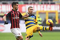 Antonino Barilla'-Suso<br /> Milano 2-12-2018 Stadio San Siro Football Calcio Serie A 2018/2019 AC Milan - Parma Foto Image Sport / Insidefoto