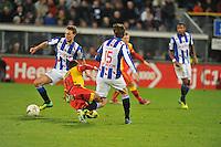 VOETBAL: ABE LENSTRA STADION: HEERENVEEN: 30-11-2013, SC Heerenveen - Go Ahead Eagles, uitslag 3-1, Markus Eikrem (#18), Erik Falkenburg (#17 | GAE), Marten de Roon (#15), ©foto Martin de Jong