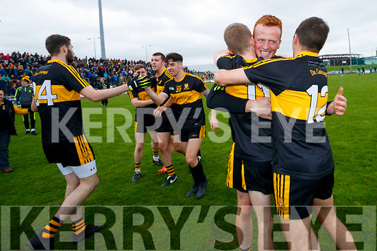 Dr Crokes players celebrate after defeating South Kerry in the Senior County Football Final in Austin Stack Park on Sunday