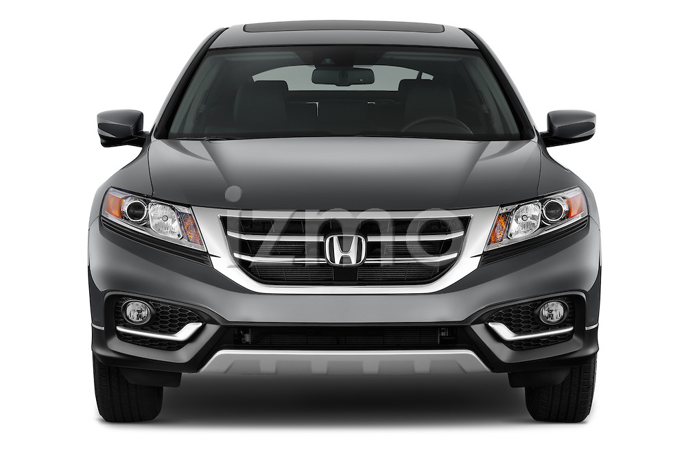 Car photography straight front view of a 2015 Honda Crosstour EX 4 Door Hatchback Front View