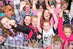 Sarah Redmond, Sarah Tansley, Rebecca Duggan, Sarah Fitzgerald, Adam Barrett-Duggan and Cassidy Barrett in the crowd waiting for Jedward on Friday.