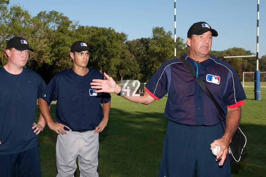 Baseball - MLB Academy - Tirrenia (Italy) - 19/08/2009 - Joris Navarro (France), Bruce Hurst