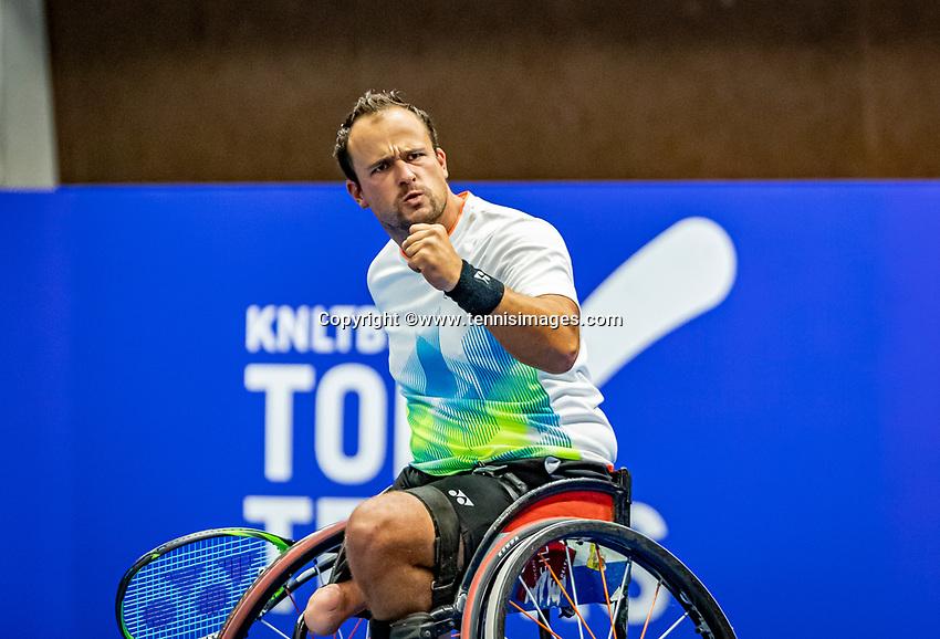 Alphen aan den Rijn, Netherlands, December 22, 2019, TV Nieuwe Sloot,  NK Tennis, Wheelchair final men single: Tom Egberink (NED)<br /> Photo: www.tennisimages.com/Henk Koster