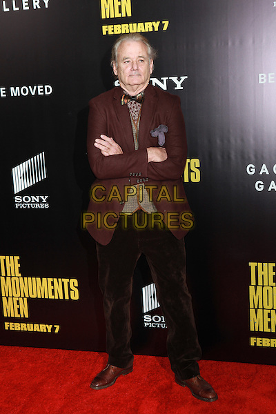 NEW YORK, NY -  FEBRUARY 4: Bill Murray attends  'The Monuments Men' premiere at Ziegfeld Theater on February 4, 2014 in New York City, New York. <br /> <br /> CAP/MPI/COR<br /> &copy;Corredor99/ MediaPunch/Capital Pictures