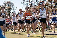 Festus' Jacob Schweiss (824), Brendan Pratt (822), and Charlie Samarzich (823) run early in the race on their way to another Class 3 title at the 2015 MSHSAA State Cross Country Championships in Jefferson City, Saturday, November 7.