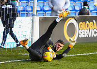 1st December 2019; Global Energy Stadium, Dingwall, Highland, Scotland; Scottish Premiership Football, Ross County versus Celtic; Fraser Forster of Celtic warms up  - Editorial Use