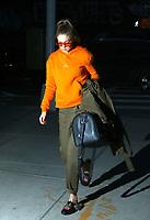 www.acepixs.com<br /> <br /> March 30 2017, New York City<br /> <br /> Model Gigi Hadid arrives at her East Village apartment on March 30 2017 in New York City<br /> <br /> By Line: Zelig Shaul/ACE Pictures<br /> <br /> Email: info@acepixs.com<br /> Tel: 646 769 0430