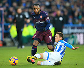 9th February 2019, The John Smith's Stadium, Huddersfield, England; EPL Premier League football, Huddersfield versus Arsenal; Eric Durm of Huddersfield Town makes a sliding tackle to stop Alexandre Lacazette of Arsenal