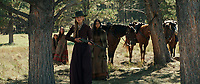 Hostiles (2017) <br /> Rosamund Pike and Tanaya Beatty<br /> *Filmstill - Editorial Use Only*<br /> CAP/KFS<br /> Image supplied by Capital Pictures