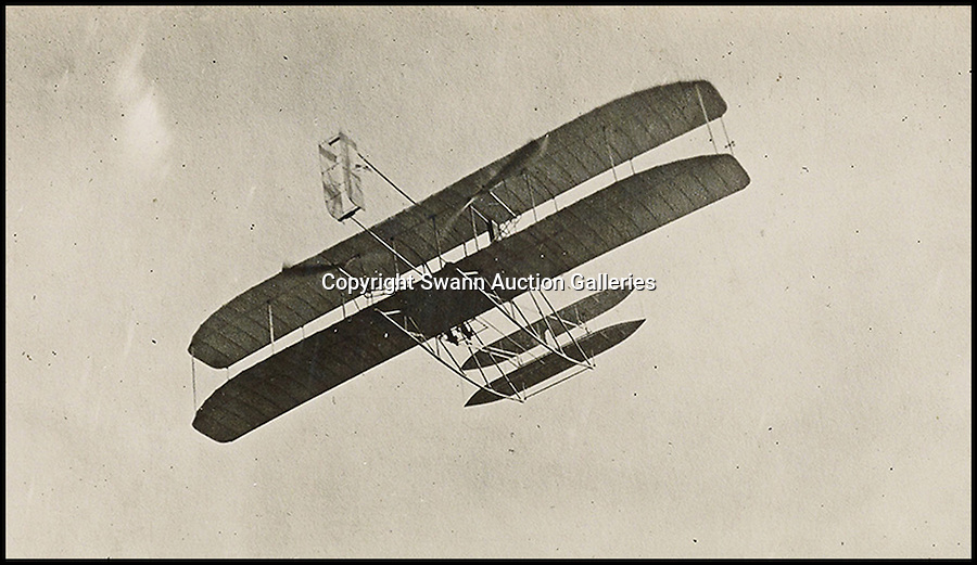 BNPS.co.uk (01202 558833)<br /> Pic: SwannAuctions/BNPS<br /> <br /> ***Please use full byline***<br /> <br /> Wright brothers Flyer III.<br /> <br /> A fascinating archive of previously unseen photographs documenting the Wright Brothers' pioneering advances in early flight has come to light.<br /> <br /> The black and white photos chart Wilbur and Orville Wright's work developing their rudimentary aircraft in the years following their historic first powered flight in 1903.<br /> <br /> The collection was compiled by aviation enthusiast Walt Burton, who bought two albums of photos of the Wright Brothers from Frank Hermes, a businessman who paid the pair to fly his freight around.<br /> <br /> It expected to fetch upwards of £20,000 when it goes under the hammer at Swann Auction Galleries.