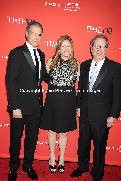 Rick Stengel, Kim Kelleher and John Huey attends The Time 100 Most Influential People in the World Gala on April 24, 2012 at Frederick P Rose Hall at Lincoln Center in New York City. .