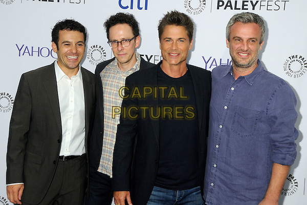 15 September 2015 - Beverly Hills, California - Fred Savage, Jarrad Paul, Rob Lowe, Andrew Mogel. 2015 PaleyFest Fall TV Preview - &quot;The Grinder&quot; held at The Paley Center. <br /> CAP/ADM/BP<br /> &copy;BP/ADM/Capital Pictures