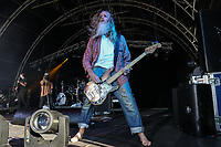 Jack Bessant of Reef performs at AmpRocks during AmpFest at Ampthill Great Park, Ampthill, England on 29 June 2018. Photo by David Horn.
