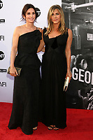 HOLLYWOOD, CA - JUNE 7: Courteney Cox and Jennifer Aniston at the American Film Institute Lifetime Achievement Award Honoring George Clooney at the Dolby Theater in Hollywood, California on June 7, 2018. <br /> CAP/MPI/DE<br /> &copy;DE//MPI/Capital Pictures