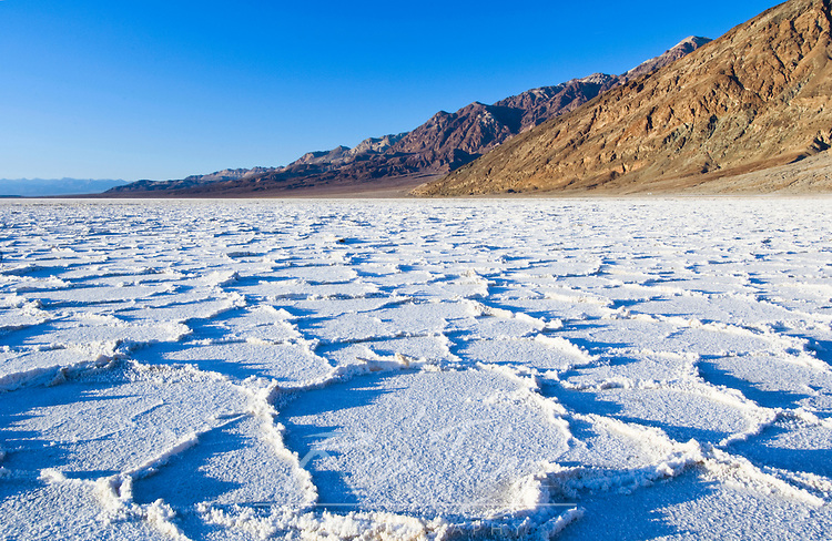 Salt Formations at Badwater in Death Valley NP, CA, USA