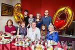 Chris Tansley from Upper (Top of the) Rock Street celebrating her 60th birthday in Cassidys on Saturday night.<br /> Seated l to r: Valerie Carroll, Mary Carey, Chris Tansley, Ruby Hurley and Dolores O'Connor.<br /> Standing l to r: Adam Costello, Luke, Christina and David Hurley.