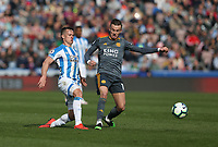 Huddersfield Town's Jonathan Hogg and Leicester City's James Maddison<br /> <br /> Photographer Stephen White/CameraSport<br /> <br /> The Premier League - Huddersfield Town v Leicester City - Saturday 6th April 2019 - John Smith's Stadium - Huddersfield<br /> <br /> World Copyright © 2019 CameraSport. All rights reserved. 43 Linden Ave. Countesthorpe. Leicester. England. LE8 5PG - Tel: +44 (0) 116 277 4147 - admin@camerasport.com - www.camerasport.com