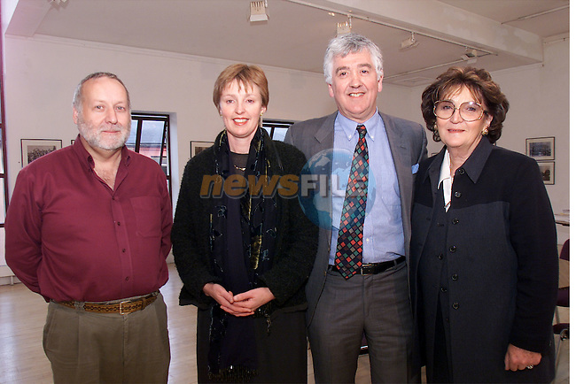 Walter Robinson, Drogheda Medjugorie prayer group,Patricia Keane, chairperson for rebuild for Bosnia, Arthur McCloskey and Rhona Connolly at the talk for Medjuorie in the Drogheda Arts Centre..Picture: Arthur Carron/Newsfile