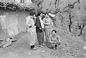 Iraq 1981 .In april,in Toujala,women peshmergas, second from left, Pakchan Hafid with friends  .Irak 1981 .En avril, a Toujala, femmes peshmergas  dont Pakchan Hafid et la femme de Feridun Abdel Kader et Paziza et Nermin
