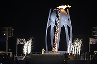 PYEONGCHANG,SOUTH KOREA,09.FEB.18 - OLYMPICS - Olympic Winter Games PyeongChang 2018, official opening ceremony. Image shows the Olympic flame. Photo: GEPA pictures/ Andreas Pranter / Copyright : Explorer-media
