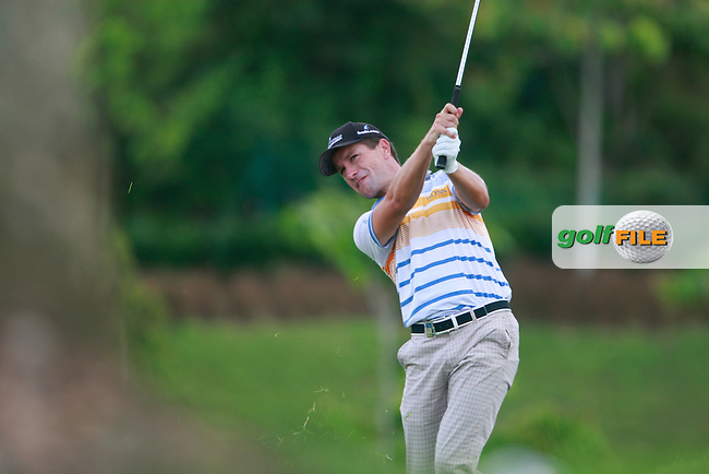 Steve Webster (ENG) plays his 2nd shot on the 11th tee during Thursday's Round 1 of the 2011 Iskandar Johor Open, Horizon Hills Golf Club, Johor, Malaysia, 15th November 2011 (Photo Eoin Clarke/www.golffile.ie)