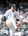Masahiro Tanaka (Yankees), JULY 23, 2015 - MLB : New York Yankees starting pitcher Masahiro Tanaka cares to his foot during a baseball game against the Baltimore Orioles at Yankee Stadium in New York, United States. (Photo by AFLO)