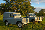 AppleMark A matching couple of two historic 1963 Landrover Series 2a's on a farm in Dunsfold, UK 2004. One being a hardtop, one a truckcab, and both in very original and full working condition. --- No releases available. Automotive trademarks are the property of the trademark holder, authorization may be needed for some uses.